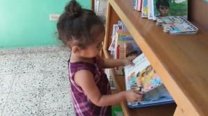Neolectora en la Biblioteca comunitaria Biblioteca Pública Riecken de El Guante (Honduras)
